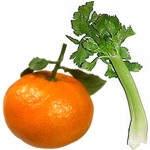Receta del nutritivo jugo de mandarina con apio