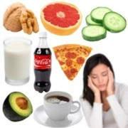 Ingesta de alimentos relacionados con el dolor de cabeza