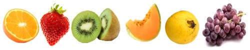 Frutas según el mes del año, frutas mes a mes