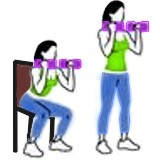 ¿Es mejor hacer pesas parado o sentado?