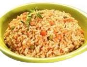 Comer únicamente arroz