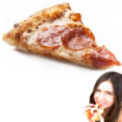 ¿Cuántas calorías tiene un pedazo de pizza hawaiana?
