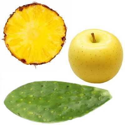Efectos del jugo de piña con nopal y manzana