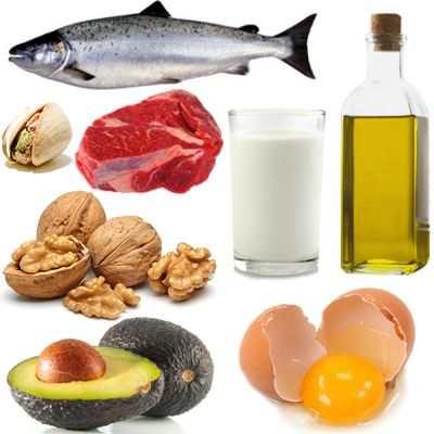 ¿Qué alimentos del plato del buen comer contienen grasas?