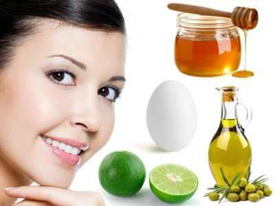 Mascarillas con aceite de oliva, limón, huevo, miel para la resequedad y la grasa