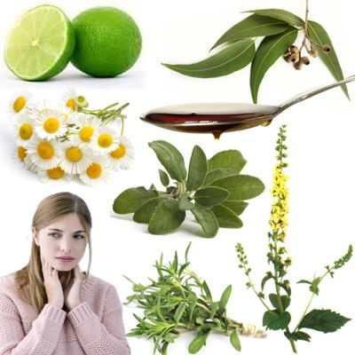 Eucalipto, agrimonia, manzanilla, tomillo y limón para las anginas