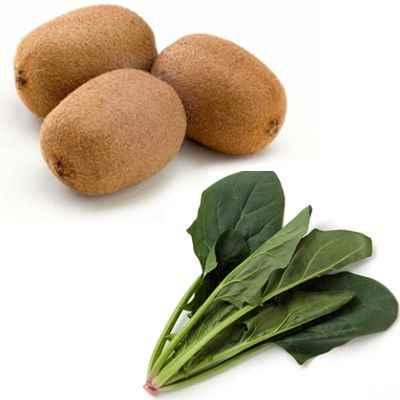 Propiedades del jugo de kiwi y espinaca