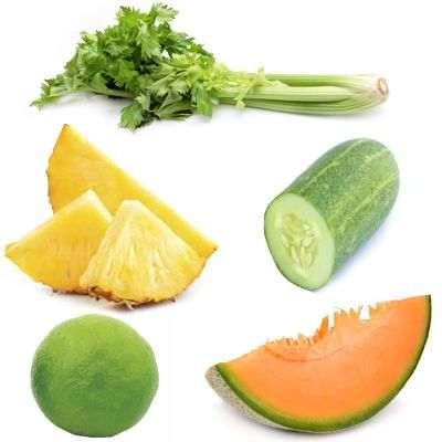 Beneficios del jugo de melón pepino limón apio y piña para mejorar la salud