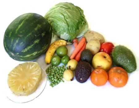 Dieta a base solo de frutas y verduras