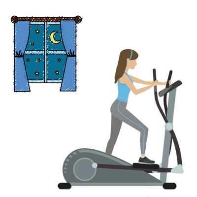 Si hago ejercicio en la noche funciona