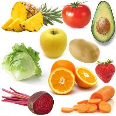 Frutas y verduras de México