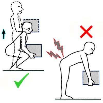 Como levantar un objeto pesado correctamente