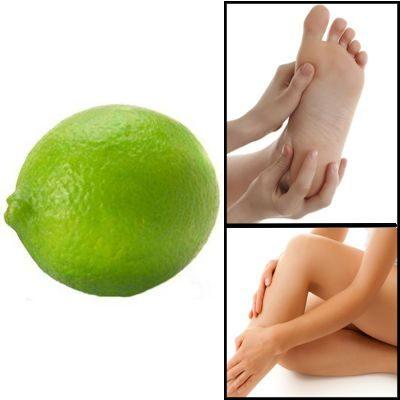 Limón contra el vello corporal