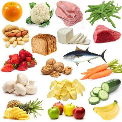 Listado de alimentos con su aportación calórica