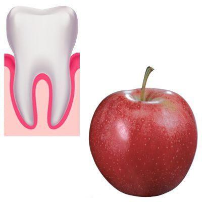 ¿Es cierto que la manzana limpia los dientes?