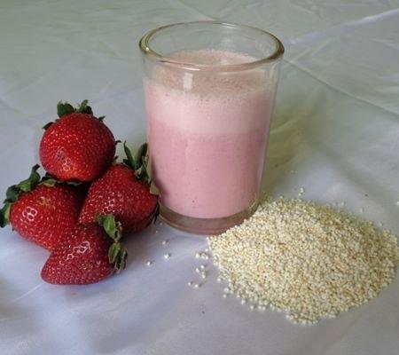 Propiedades del licuado de fresa con amaranto