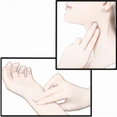 ¿Cómo tomar el pulso en la muñeca o cuello?