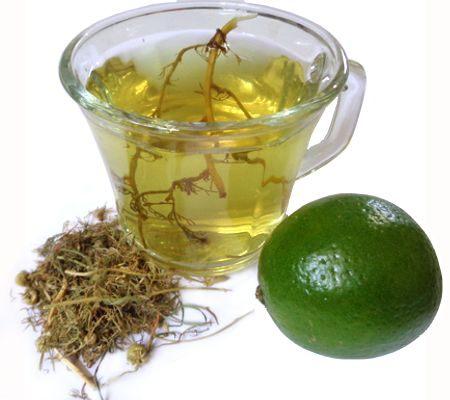 Propiedades del té de manzanilla con limón de preferencia en ayunas