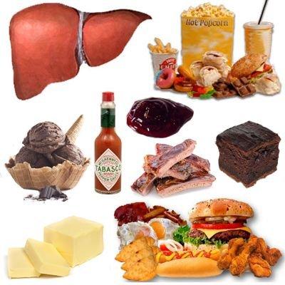 Alimentos No recomendados para el hígado