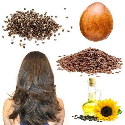 Semillas para el crecimiento del cabello