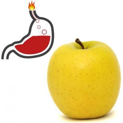 Es buena la manzana para la acidez