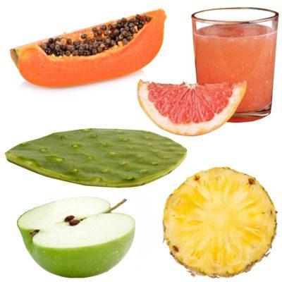 ¿Cómo hacer un jugo papaya, piña, toronja, nopal y manzana verde?