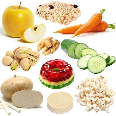 Ejemplos de refrigerios saludables