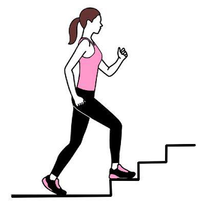 ¿Cómo hacer pierna rápido subiendo escaleras?