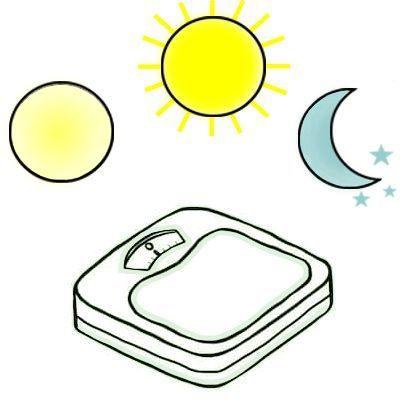 ¿Qué hora del día es ideal para pesarse?