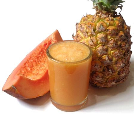 Beneficios del jugo de papaya y piña en ayunas
