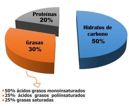 ¿Cuántos gramos de grasa se debe consumir al día?