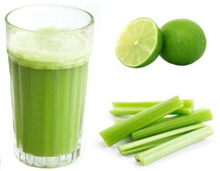 Beneficios de tomar jugo de apio con limón