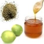 Infusión de orégano miel y limón