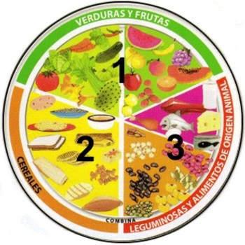 Raciones y porciones del plato del buen comer