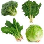 Vegetales verdes ricos en fibra