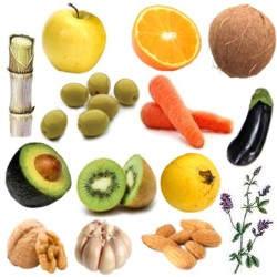 Tabla de calorías, vitaminas y minerales de las frutas y verduras