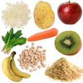 Alimentos considerados fibra