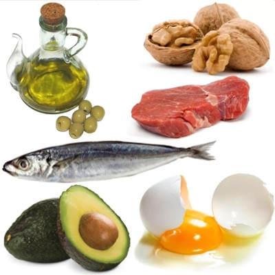 Alimentos clasificados en lípidos
