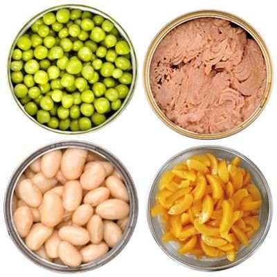 Los alimentos enlatados contribuyen a una buena alimentación