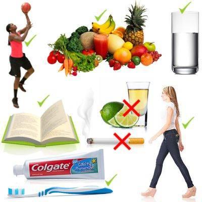 Hábitos que debemos observar para cuidar nuestra salud