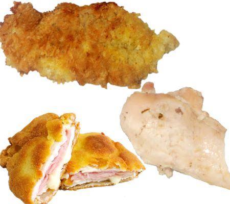 ¿Cuántas calorías tiene una porción de pechuga de pollo?