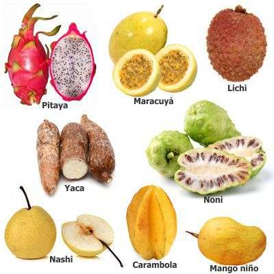 Frutas poco comunes en México nombres de frutas no muy comunes