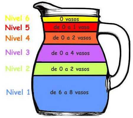 ¿A qué se refiere cada nivel de la jarra del buen beber?