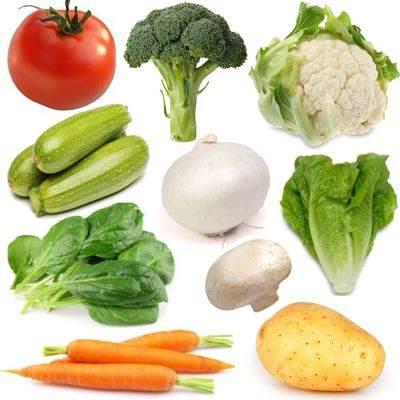 Alimentos considerados y clasificados como vegetales