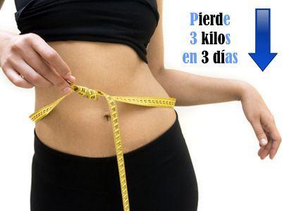 Quiero adelgazar 3 kilos en 3 días ¿es posible bajar 3 kilos en 3 días?