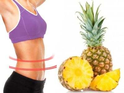 La piña disuelve las grasas del cuerpo
