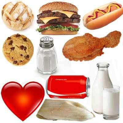 Alimentos no recomendados en consumo excesivo para el corazón