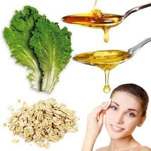 Mascarilla de avena miel aceite de oliva y lechuga para suavizar el rostro