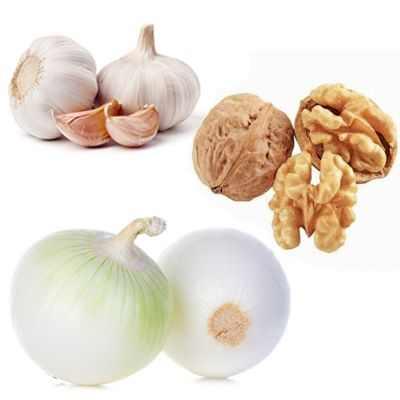 Beneficios de las nueces, ajo y cebolla para el corazón