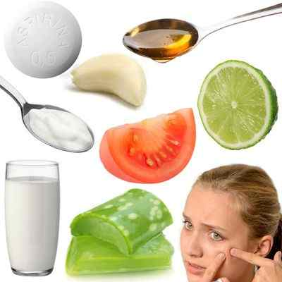 Mascarillas poderosas para el acné con ingredientes anti acné: miel, tomate, ajo, sábila